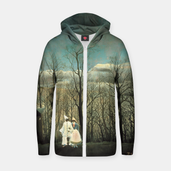 Thumbnail image of Fashion items of Henri Rousseau painting - A Carnival Evening Zip up hoodie, Live Heroes