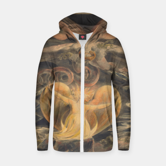 Thumbnail image of Fashion items of William Blake painting, The Great Red Dragon and the woman  clothed with the sun Zip up hoodie, Live Heroes