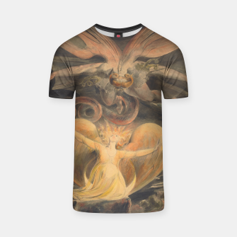 Thumbnail image of Fashion items of William Blake painting, The Great Red Dragon and the woman  clothed with the sun T-shirt, Live Heroes