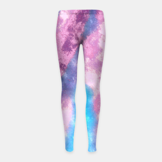 Thumbnail image of Abstrait Dégradé Rose/Violet/Bleu Leggings de fille, Live Heroes