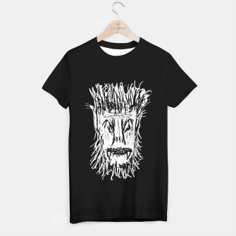 Miniatur Black and White Monster Head Drawing T-shirt regular, Live Heroes