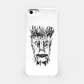 Miniatur Black and White Monster Head Drawing iPhone Case, Live Heroes