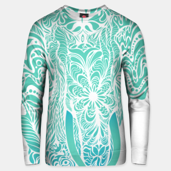 Thumbnail image of Not a circus turquoise elephant by #Bizzartino Unisex sweater, Live Heroes