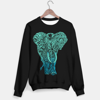 Thumbnail image of Not a circus turquoise elephant by #Bizzartino Sweater regular, Live Heroes