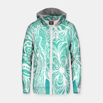 Thumbnail image of Not a circus turquoise elephant by #Bizzartino Zip up hoodie, Live Heroes