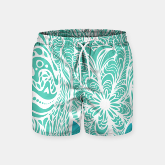 Thumbnail image of Not a circus turquoise elephant by #Bizzartino Swim Shorts, Live Heroes