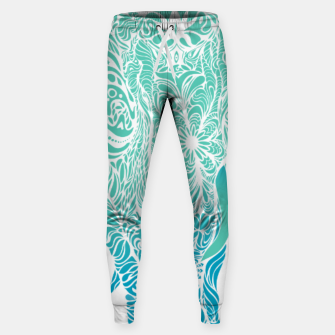 Thumbnail image of Not a circus turquoise elephant by #Bizzartino Sweatpants, Live Heroes