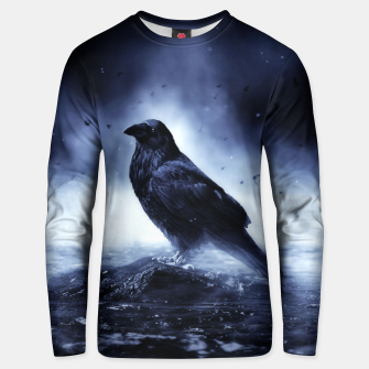 Thumbnail image of Raven in mystical Light  Unisex sweatshirt, Live Heroes