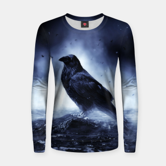 Thumbnail image of Raven in mystical Light  Frauen sweatshirt, Live Heroes