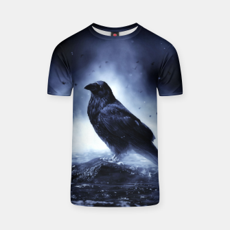 Thumbnail image of Raven in mystical Light  T-Shirt, Live Heroes