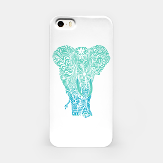 Thumbnail image of Not a circus turquoise elephant by #Bizzartino iPhone Case, Live Heroes