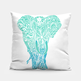 Thumbnail image of Not a circus turquoise elephant by #Bizzartino Pillow, Live Heroes