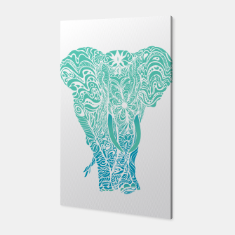 Thumbnail image of Not a circus turquoise elephant by #Bizzartino Canvas, Live Heroes