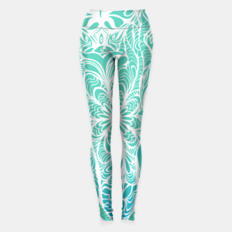 Thumbnail image of Not a circus turquoise elephant by #Bizzartino Leggings, Live Heroes