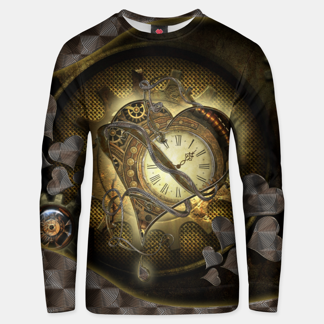 Image de Awesome steampunk heart Unisex sweater - Live Heroes