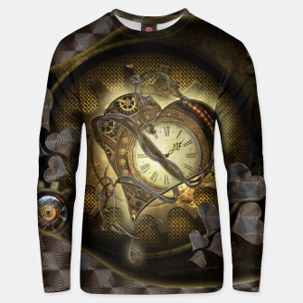 Thumbnail image of Awesome steampunk heart Unisex sweater, Live Heroes