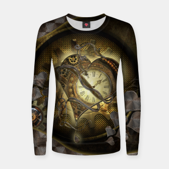 Thumbnail image of Awesome steampunk heart Women sweater, Live Heroes