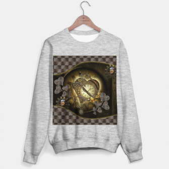 Miniatur Awesome steampunk heart Sweater regular, Live Heroes