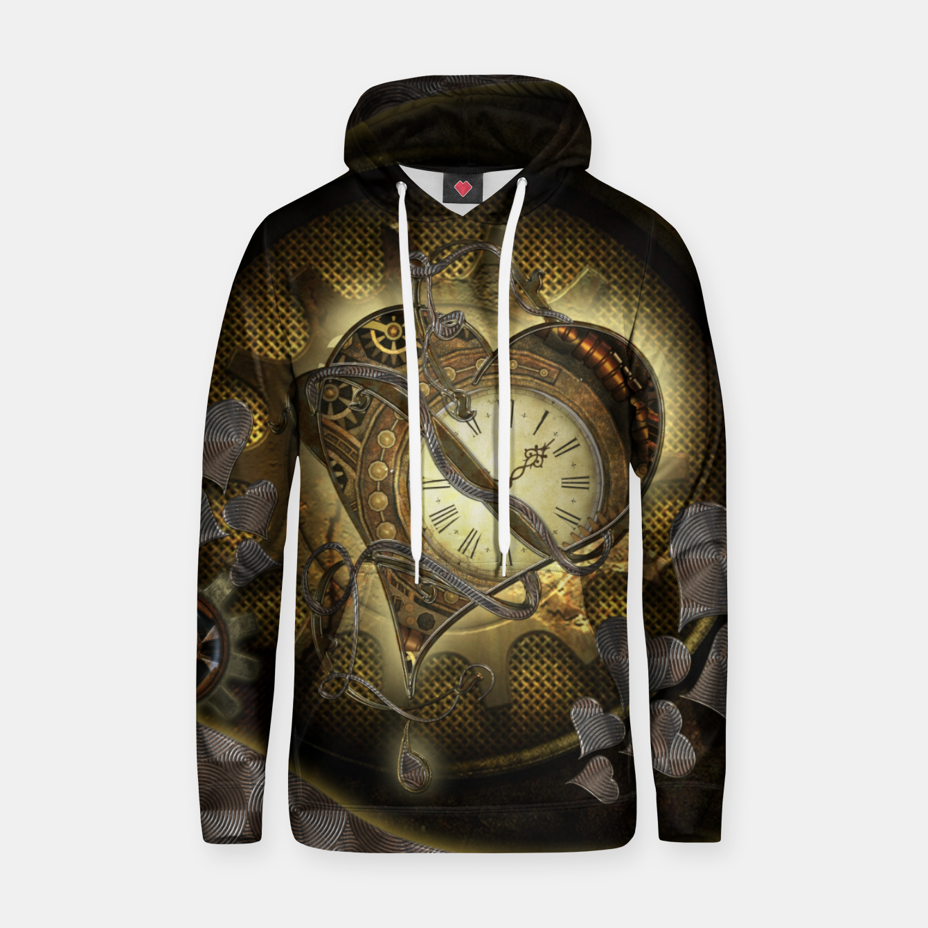 Image of Awesome steampunk heart Hoodie - Live Heroes
