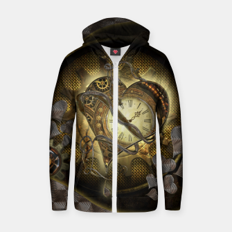 Thumbnail image of Awesome steampunk heart Zip up hoodie, Live Heroes