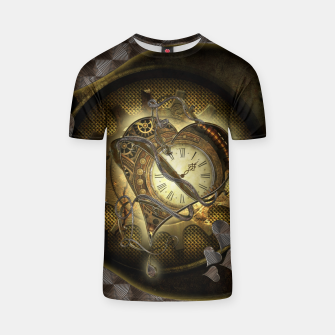 Thumbnail image of Awesome steampunk heart T-shirt, Live Heroes
