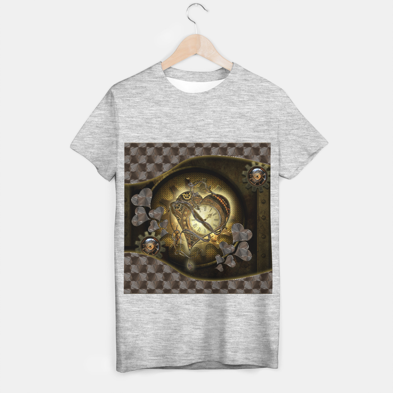Image of Awesome steampunk heart T-shirt regular - Live Heroes