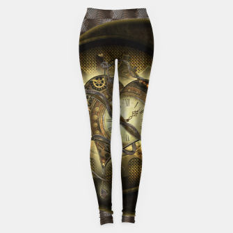 Thumbnail image of Awesome steampunk heart Leggings, Live Heroes