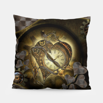 Thumbnail image of Awesome steampunk heart Pillow, Live Heroes