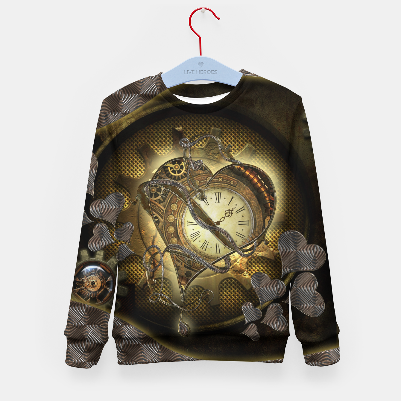 Image of Awesome steampunk heart Kid's sweater - Live Heroes