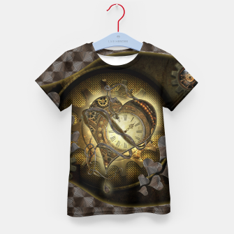 Thumbnail image of Awesome steampunk heart Kid's t-shirt, Live Heroes