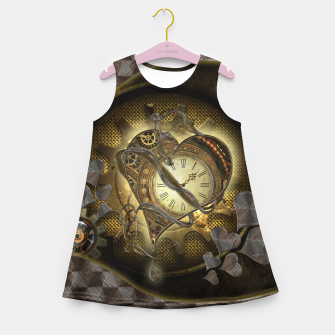 Miniatur Awesome steampunk heart Girl's summer dress, Live Heroes