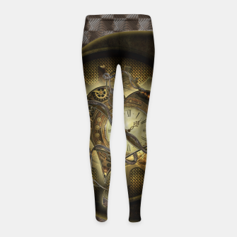 Thumbnail image of Awesome steampunk heart Girl's leggings, Live Heroes