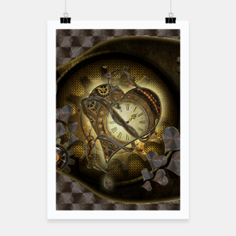Thumbnail image of Awesome steampunk heart Poster, Live Heroes
