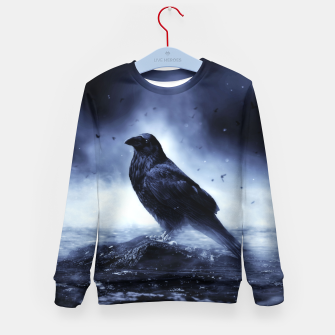 Thumbnail image of Raven in mystical Light  Kindersweatshirt, Live Heroes