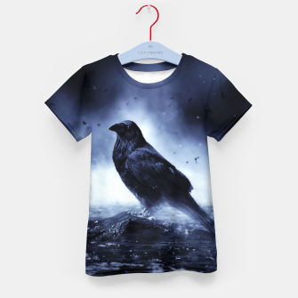Thumbnail image of Raven in mystical Light  T-Shirt für kinder, Live Heroes
