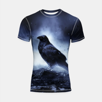 Thumbnail image of Raven in mystical Light  Shortsleeve rashguard, Live Heroes