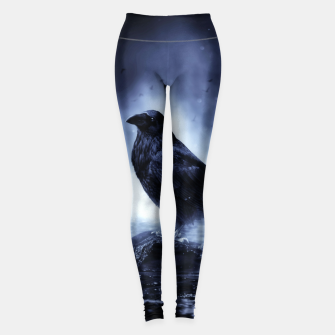 Thumbnail image of Raven in mystical Light  Leggings, Live Heroes