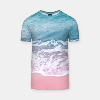 Thumbnail image of Pink Ocean Beauty Dream #1 #wall #decor #art T-Shirt, Live Heroes