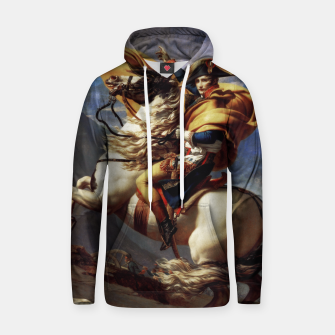 Thumbnail image of Napoleon Crossing The Alps by Jacques Louis David Old Masters Prints Hoodie, Live Heroes