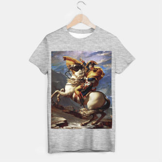 Thumbnail image of Napoleon Crossing The Alps by Jacques Louis David Old Masters Prints T-shirt regular, Live Heroes