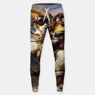 Thumbnail image of Napoleon Crossing The Alps by Jacques Louis David Old Masters Prints Sweatpants, Live Heroes