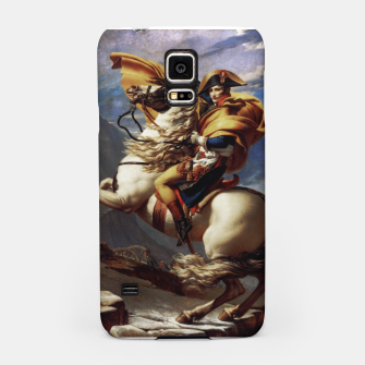 Thumbnail image of Napoleon Crossing The Alps by Jacques Louis David Old Masters Prints Samsung Case, Live Heroes