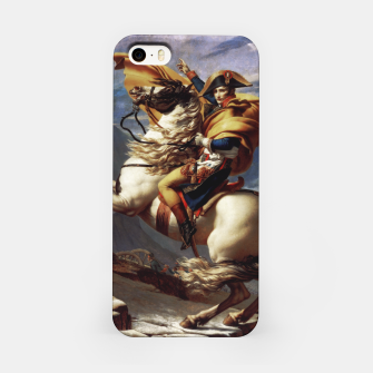 Thumbnail image of Napoleon Crossing The Alps by Jacques Louis David Old Masters Prints iPhone Case, Live Heroes