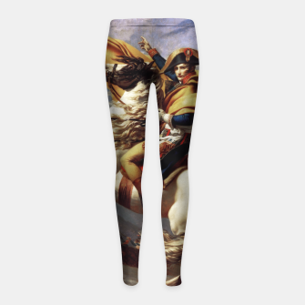 Thumbnail image of Napoleon Crossing The Alps by Jacques Louis David Old Masters Prints Girl's leggings, Live Heroes