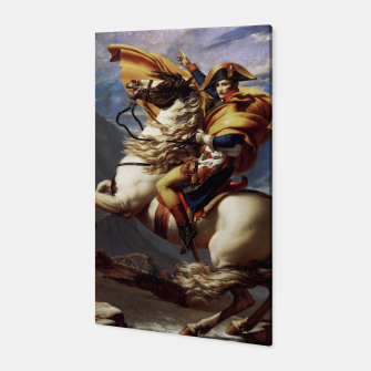 Thumbnail image of Napoleon Crossing The Alps by Jacques Louis David Old Masters Prints Canvas, Live Heroes