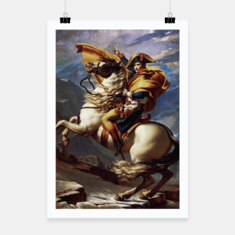 Thumbnail image of Napoleon Crossing The Alps by Jacques Louis David Old Masters Prints Poster, Live Heroes