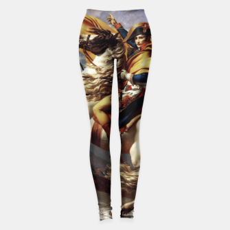 Thumbnail image of Napoleon Crossing The Alps by Jacques Louis David Old Masters Prints Leggings, Live Heroes