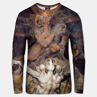 Miniaturka Fashion items of William Blake painting The number of the Beast, 666 Unisex sweater, Live Heroes