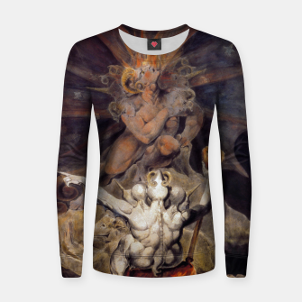 Miniaturka Fashion items of William Blake painting The number of the Beast, 666 Women sweater, Live Heroes
