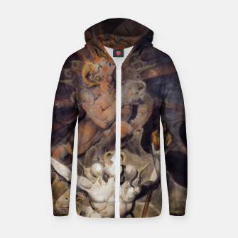 Miniaturka Fashion items of William Blake painting The number of the Beast, 666 Zip up hoodie, Live Heroes